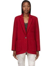 Isabel Marant Red Wool Jady Jacket - Lyst