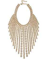 River Island Gold Tone Statement Strand Necklace - Lyst
