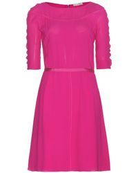 Nina Ricci P Silk Dress - Lyst