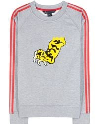 Marc By Marc Jacobs Peyton French Terry Tiger Paw Printed Sweatshirt - Lyst