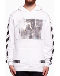 Off-White c/o Virgil Abloh - Caravaggio Printed Hooded Sweatshirt - Lyst