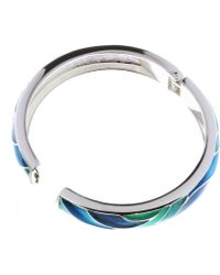 Indulgence Jewellery - Green,aqua,blue Enamel Bangle - Lyst
