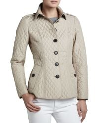 Burberry London Lightweight Quilted Checklined Jacket Trench 2 - Lyst