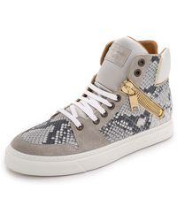 Marc Jacobs Python High Top Sneakers - Lyst