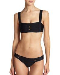 Hervé Léger Twist Bikini Top - Lyst