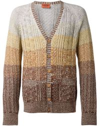 Missoni Cable Knit Cardigan - Lyst