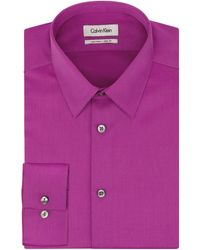 Calvin Klein Textured Stripe Dress Shirt - Lyst
