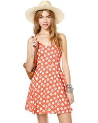 Nasty Gal Orange Cora Dress - Lyst