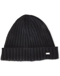 BOSS - Ribbed Knit Hat - Lyst