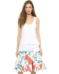 Thakoon Sleeveless Pleated Tank - White - Lyst