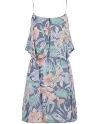 Mango Tropical Print Dress - Lyst