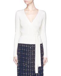 Diane von Furstenberg | Silk-cashmere Knit Ballerina Wrap Top | Lyst