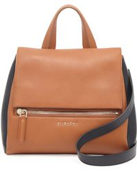 Givenchy Pandora Small Bicolor Satchel Bag - Lyst
