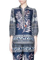Diane von Furstenberg | 'chrystie' Floral Leaf Print Silk Blouse | Lyst