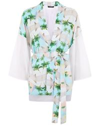 This Is A Love Song Tokyo Pyramid Print Kimono - Lyst