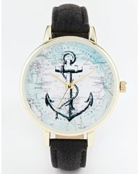 Asos Anchor Map Watch - Lyst