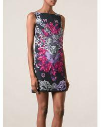Versace Medusa Print Shift Dress - Lyst
