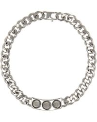 Balenciaga Classic 3 Studs Necklace - Lyst