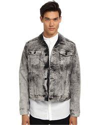 Pierre Balmain Moto Denim Jacket - Lyst