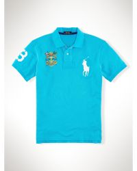 Polo Ralph Lauren Slim Fit Big Pony Crest Polo - Lyst