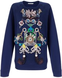 Mary Katrantzou Tikki Man Sweater Embellished - Lyst