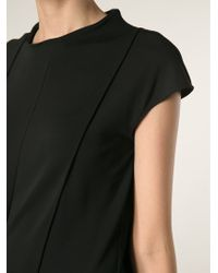 Maison Martin Margiela Black Shift Dress - Lyst