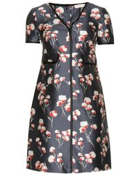 Tory Burch Kenzie Floral-print Silk Dress - Lyst