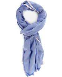 Tommy Hilfiger Striped Selvedge Chambray Scarf - Lyst