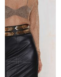 Nasty Gal - Make Your Point Stretch Belt - Lyst