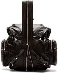Alexander Wang Black Leather Marti Backpack - Lyst