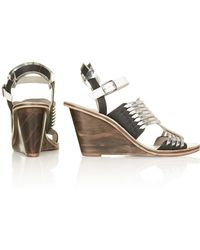 Topshop Wildnerness Strappy Wedges - Lyst