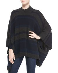 Theory Florencia S Striped Oversize Poncho - Lyst
