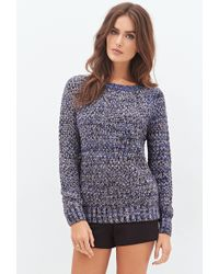 Forever 21 Marled Knit Raglan Sweater - Lyst