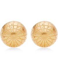 What Goes Around Comes Around Hermes Gold Globe Earrings - Lyst