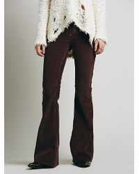 Free People Pull On Corduroy Flare - Lyst