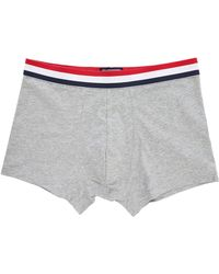 Tommy Hilfiger Organic Cotton Grey Boxer Shorts With Tricolour Waistband - Lyst