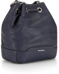 Rebecca Minkoff Mini Lexi Bucket Bag - Midnight black - Lyst