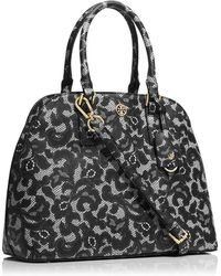 Tory Burch Robinson Printed Open Dome Satchel - Lyst