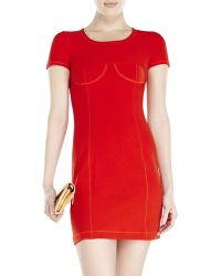 Sonia Rykiel Sonia By Red Bodycon Dress - Lyst