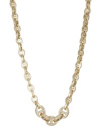 Hoorsenbuhs - Women's Diamond-embellished Tri-link Necklace - Lyst