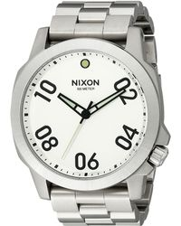 Nixon The Ranger 45 silver - Lyst