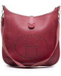 Hermes Preowned Red Epsom Leather Evelyne I Crossbody - Lyst