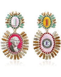 Bijoux De Famille - Disco Funky Dollar Earrings - Lyst