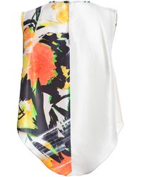 Jena.Theo - Sleeveless Print Silk Vest - Lyst
