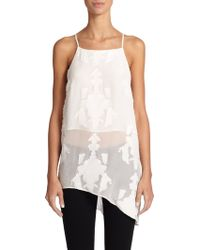 Sachin & Babi Hollis Asymmetrical Silk & Cotton Tank Top - Lyst
