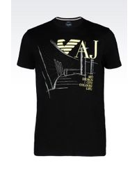 Armani Jeans T-Shirt In Cotton Jersey - Lyst