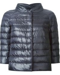 Herno Blue Quilted Jacket - Lyst