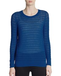 Marc By Marc Jacobs Rose Sheer Pointelle Sweater - Lyst