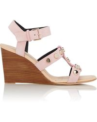 Balenciaga | Button-embellished Wedge Sandals | Lyst