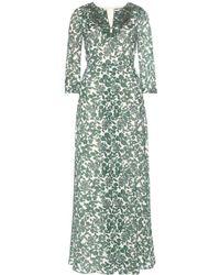Tory Burch Talan Printed Silk Dress - Lyst